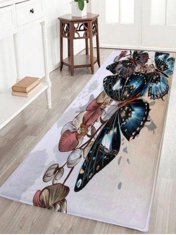 Outfit Coral Velvet Vintage Butterfly Indoor Area Rug - W16 INCH * L47 INCH COLORMIX Mobile