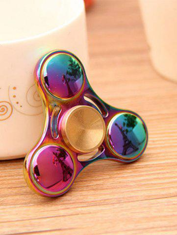Unique Anti Stress Toy Rainbow Gyro Triangle Fidget Finger Spinner - MULTI COLOR  Mobile
