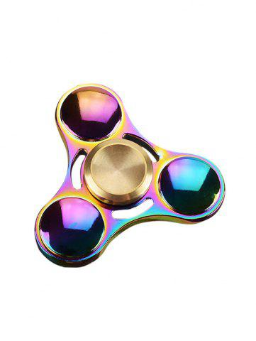 Sale Anti Stress Toy Rainbow Gyro Triangle Fidget Finger Spinner - MULTI COLOR  Mobile