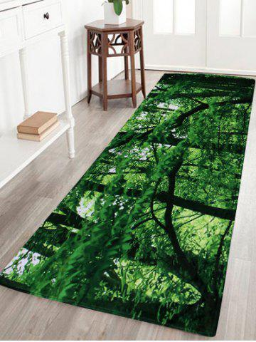 Forest Coral Velvet Absorbent Large Area Rug - Green - W24 Inch * L71 Inch