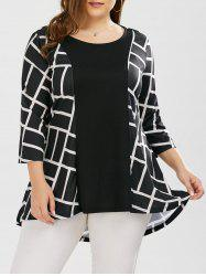 Plus Size Geometric Smock Blouse