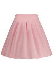 A Line High Waisted Mini Skirt
