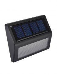 6 LED Solar Power Garden Wall Lamp - BLACK