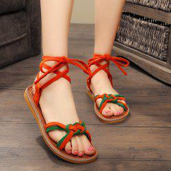 Flat Heel Colour Block Sandals