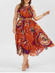 Plus Size Floral Maxi Summer Dress