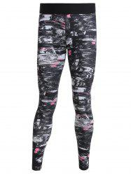 Ankle Length Print Sports Running Leggings