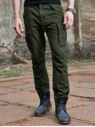 Zipper Fly Button Pockets Design Cargo Pants