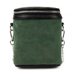 Suede Zip Around Crossbody Bag