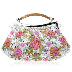 Floral Beading Sequin Evening Bag