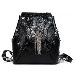 Stars Tassel Sequin Backpack