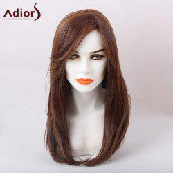 Adiors Long Inclined Bang Tail Adduction Straight Synthetic Wig