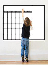 Graffiti Painting Weekly Schedule White Board Wall Sticker with Pen - WHITE