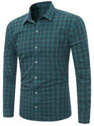 Long Sleeves Plaid Line Shirt