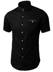 Printed Insert Pocket Shirt -
