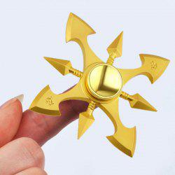 Stress Reducer Metal Spinner Toy Finger Gyro - GOLDEN