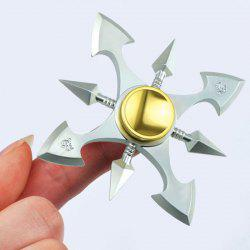 Stress Reducer Metal Spinner Toy Finger Gyro - SILVER