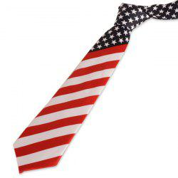 American Flag Element Tie - BLUE AND RED