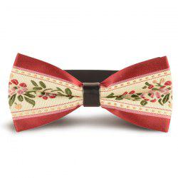 Vintage Flowers Embroidered Bow Tie