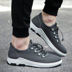 String Mesh Casual Shoes - GRAY 43