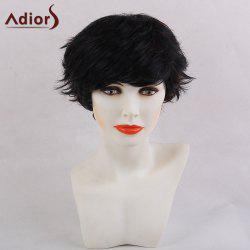 Adiors Shaggy Inclined Bang Ultra Short Pixie Straight Synthetic Hair