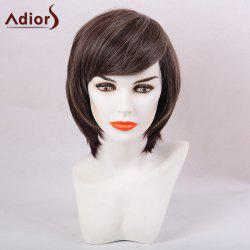 Adiors Side Bang Straight Highlight Short Bob Synthetic Wig