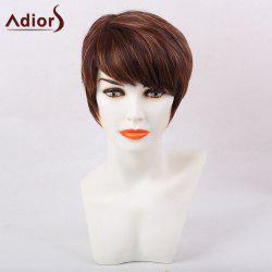 Adiors Color Mix Short Inclined Bang Straight Pixie Synthetic Hair