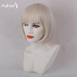Adiors Full Bang Silky Straight Short Bob Synthetic Wig