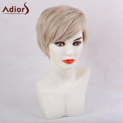 Adiors Side Bang Silky Short Straight Synthetic Wig
