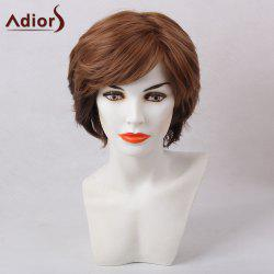 Adiors Shaggy Short Inclined Bang Straight Synthetic Hair