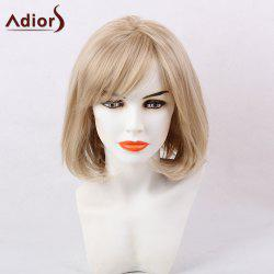 Adiors Short Straight Bob Oblique Bang Synthetic Hair - COLORMIX