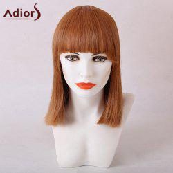 Adiors Full Bang Medium Straight Synthetic Hair