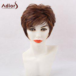 Adiors Short Side Bang Hightlight Straight Pixie Synthetic Hair - COLORMIX