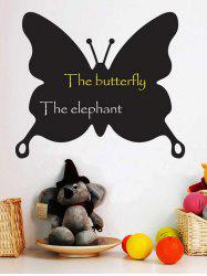 Butterfly Shape Reusable Blackboard Wall Sticker with Chalk