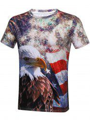 Eagle 3D Print Short Sleeve T-Shirt
