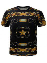 Chains Printed Crew Neck T-Shirt