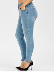 Plus Size Light Wash Skinny Jeans