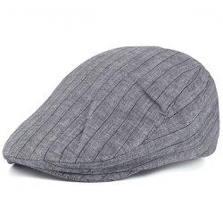 Retro Street Wear Stripe Flat Hat - DEEP GRAY