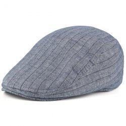 Retro Street Wear Stripe Flat Hat