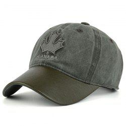 Letters Maple Leaf Embroidery Baseball Cap