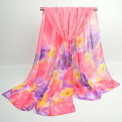 Watercolour Multicolor Floral Printing Shawl Scarf