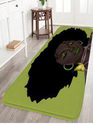Afro Hair Beauty Skidproof Water Absorption Flannel Rug