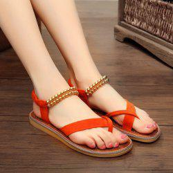Elastic Band Flat Heel Sandals