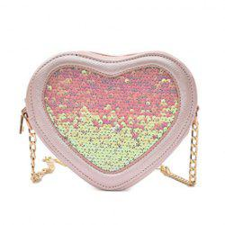 Heart Shaped Glitter Crossbody Bag