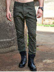 Zipper Embellished Large Pocket Design Cargo Pants