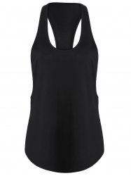 Racerback Workout Athletic Running Tank Top - BLACK