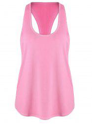 Racerback Workout Athletic Running Tank Top - ROSE PÂLE L