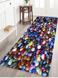 Colorful Stone Anti Slip Coral Velvet Floor Rug - COLORFUL