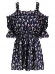 Plus Size Floral Off The Shoulder Mini Dress