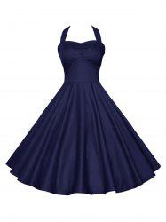 Backless Halter Party Vintage Dress