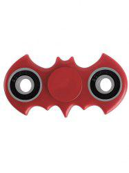 Anti Stress Toy Bat Shaped Rotating Finger Gyro - RED